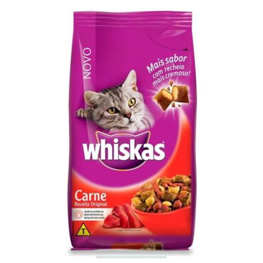 Ração Whiskas Gatos Adultos Carne 1Kg