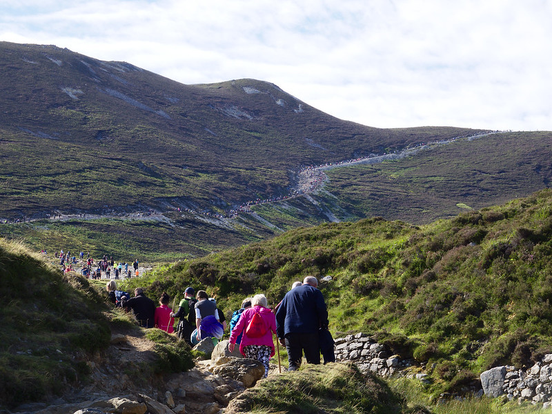 Pèlerinage de Croagh Patrick, comté de Mayo Irlande