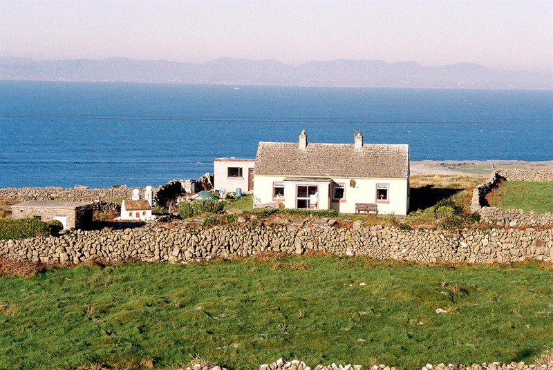 Cottage, Inishmore, Iles d'Aran, comté de Galway, Irlande