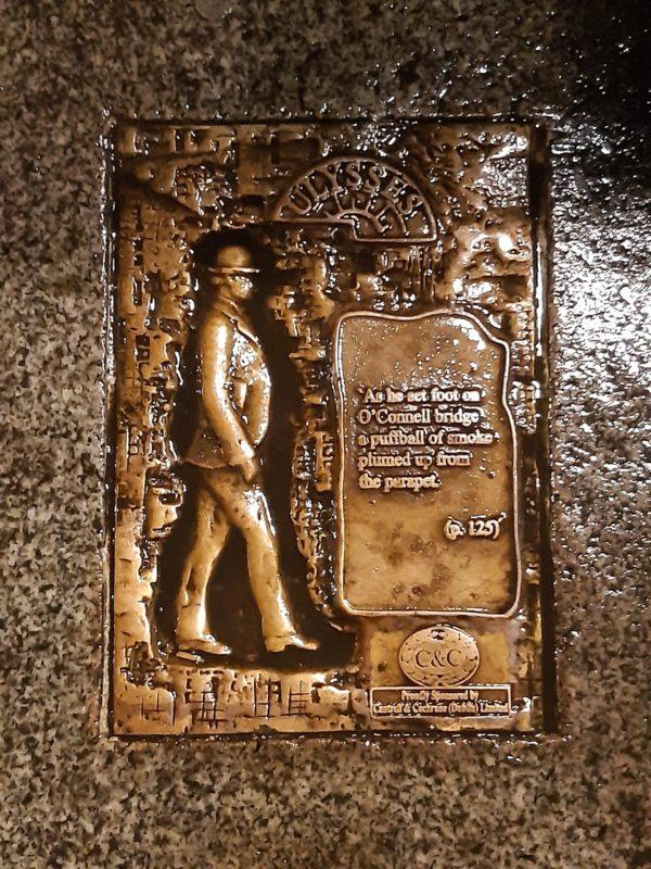 Plaque James Joyce Ulysses Dublin