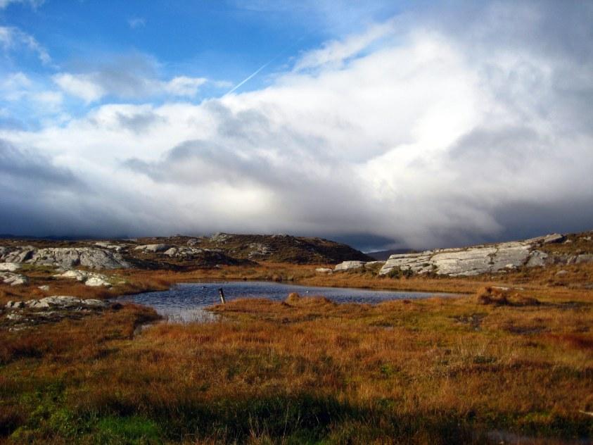 Nuages et lacs Kerry Irlande