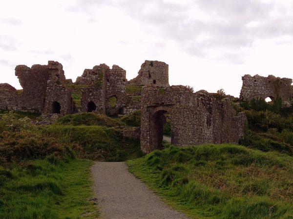 Ruines Chateau médiéval Rock of Dunamase Laois Irlande