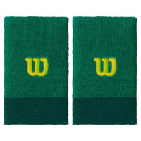 Wilson Extra Wide Tennis Wristbands x 2 (Deep Green)