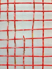 Ashaway Red Rough Cross Close Up