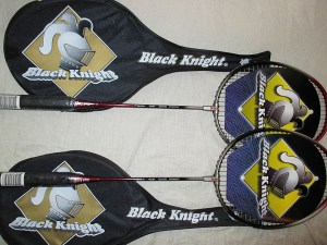 A Pair of Black Knight Canadian Badminton Rackets - Racquets4Less.com