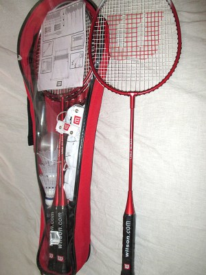 Wilson Tour Badminton Racket Kit - Racquets4Less.com