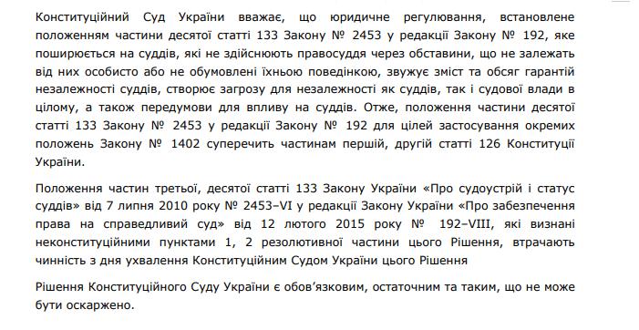 Фото: Рішення Конституційного суду України
