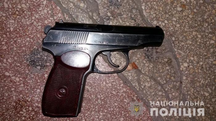 Зловмисник вів вогонь із травматичної зброї, фото: Національна поліція