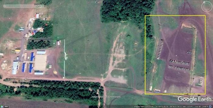 Військова база Росії під містом Чистякове (Торез) у 2018 році. Фото: glasnostgone.org