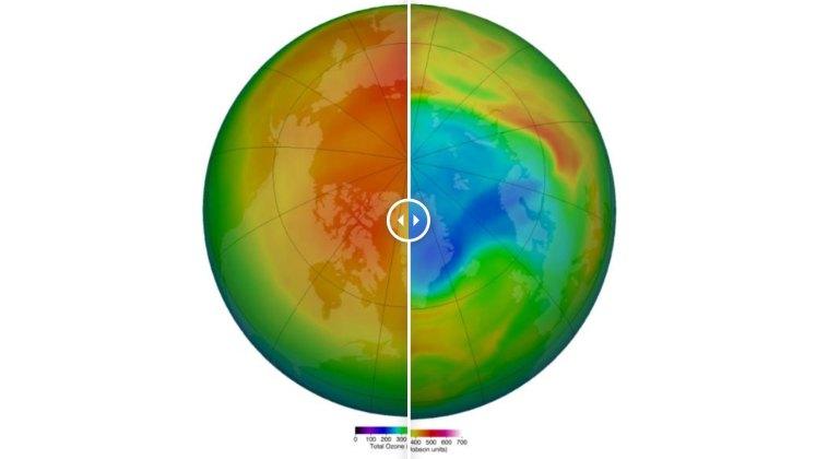 ما الغاز الذي يمتص الأشعة فوق البنفسجية في الغلاف الجوي؟