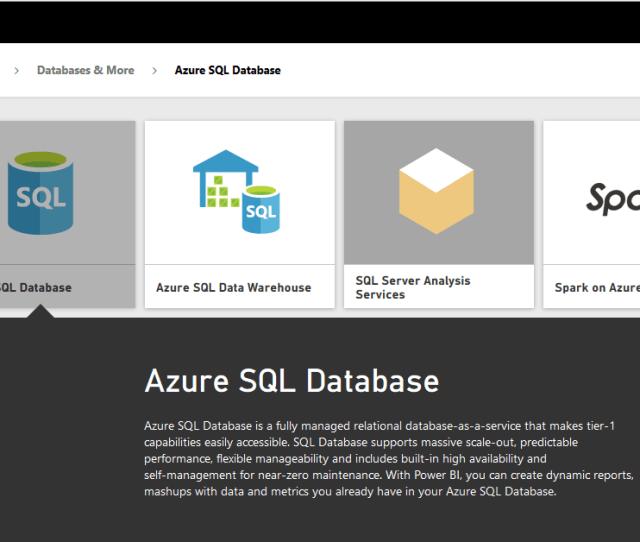 Power Bi Get Data From Azure Sql Database