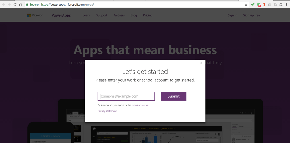 PowerApps     Building Timesheet App without Coding     Part 1   RADACAD Once sign up  you are at the PowerApps homepage  And ready to begin develop  your tailored App for your business need  You can download Powerapps Studio  to