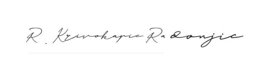 Potpis Rada Krivokapic Radonjic