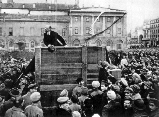 Lenin discursando