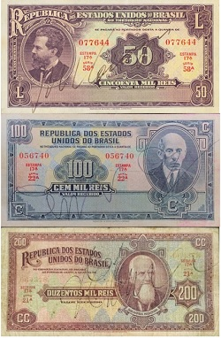 Cédulas mil-réis república velha