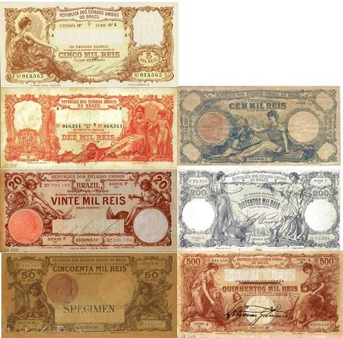 Cédulas de mil-réis República Georges Duval