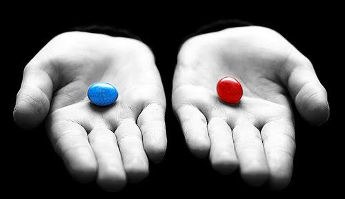 pílula azul x pílula vermelha