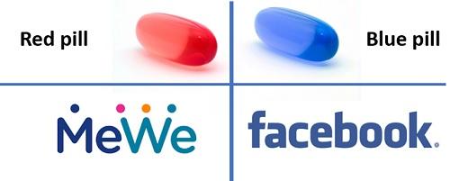 Redes sociais red pill x blue pill
