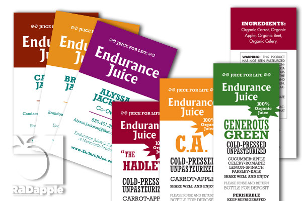 Endurance Juice business cards