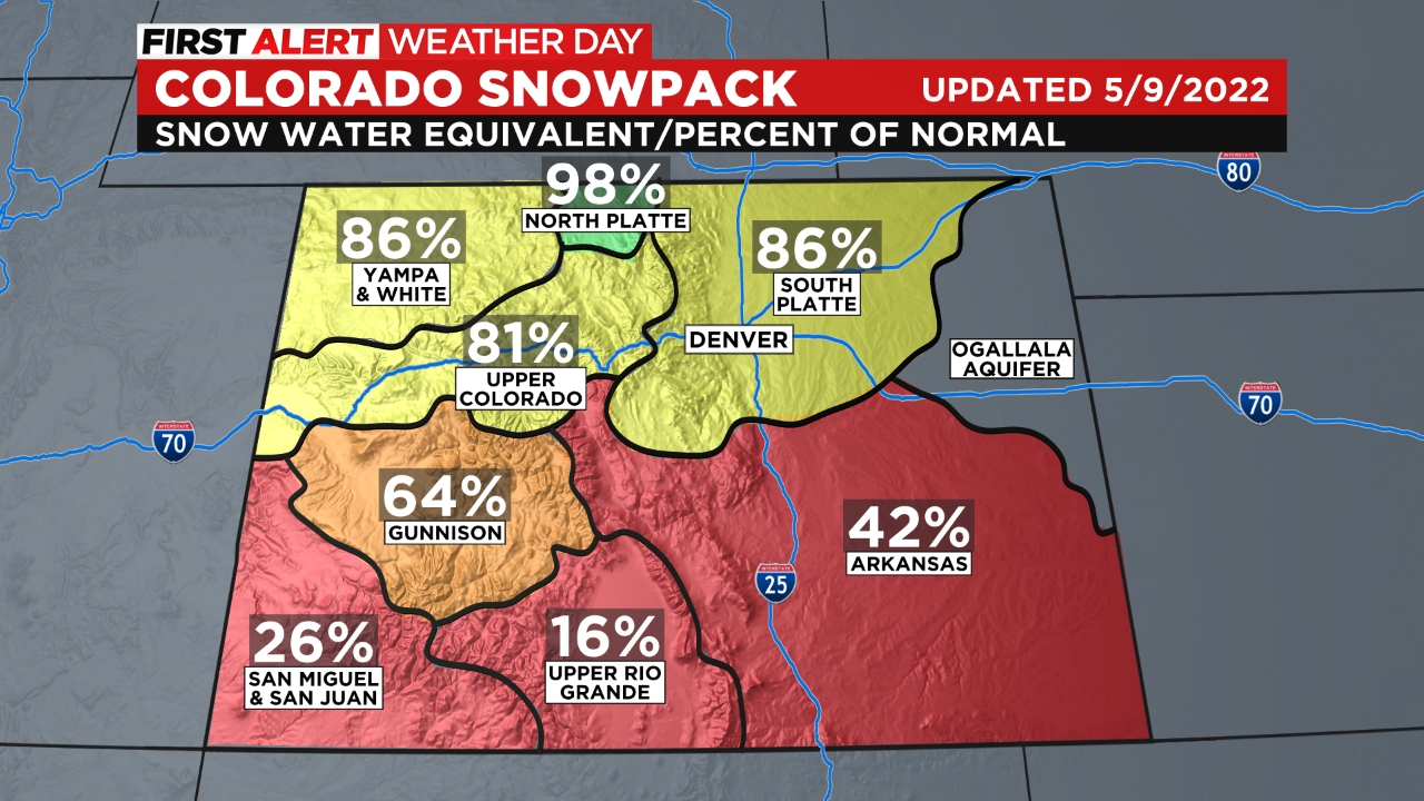 snowpack Cold Front Arrives Late Sunday