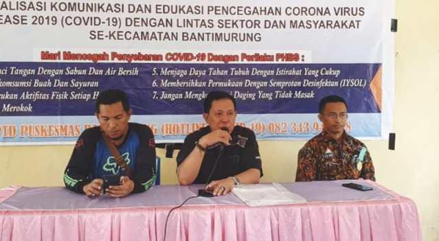 Masyarakat Kecamatan Bantimurung, Kabupaten Maros Diedukasi Pencegahan Virus Covid-19