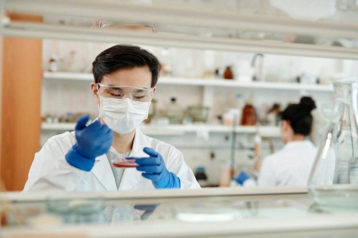 Homem fazendo experiência em laboratório Photo by Edward Jenner on Pexels.com