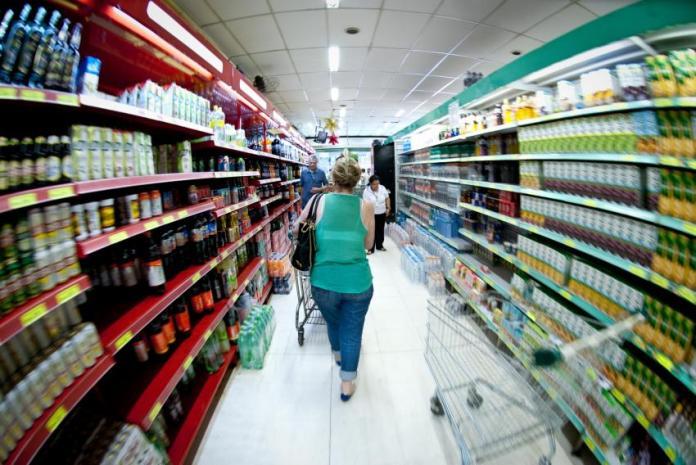 foto interna de corredor de supermercado - Marcelo Camargo/ Agência Brasil