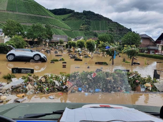 União Europeia - região destruida por tempestades na alemanha. foto: fotos públicas