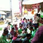 Sumringah, Anak-anak Korban Rob Dapat Bantuan Paket Alat Tulis