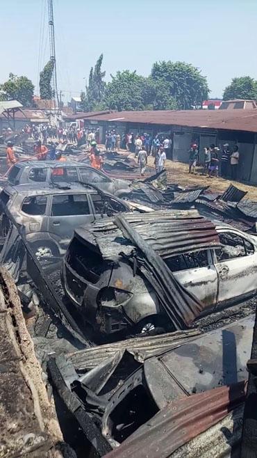Kebakaran Garasi Penitipan Mobil
