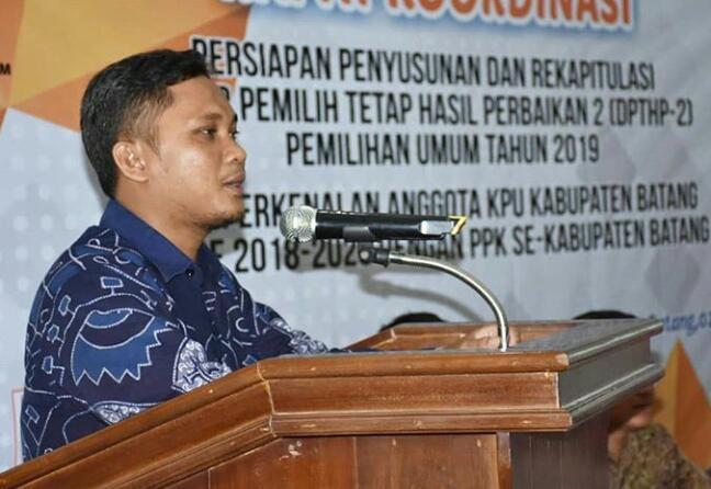 Ketua KPU Kabupaten Batang, Nur Tofan