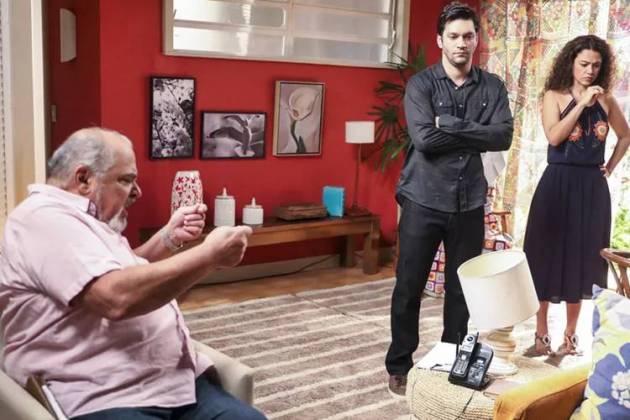 Segund Sol - Agenor faz revelação (Reprodução/TV Globo)
