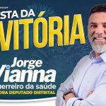 Jorge Vianna comemora eleição para distrital, nesta quinta (11), no Clube da Saúde