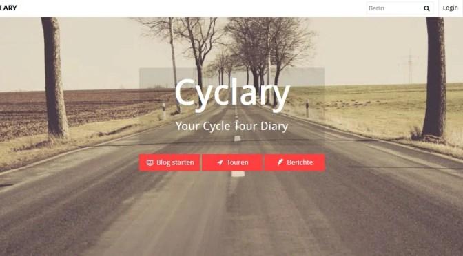 Cyclary- Ein Blog-Portal für Fahrrad-Touren