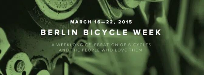 Berlin Bicycle Week 2015