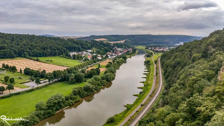 Weser Skywalk Ausblick auf die Weser