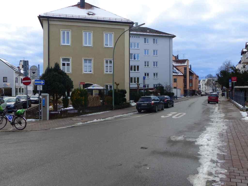 Unechte Einbahnstraße Gartenstraße
