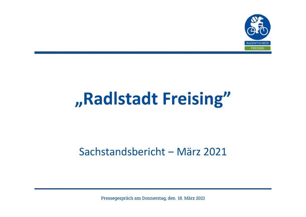 Radentscheid Freising Psäsentation Pressegespräch 18. Februar 2021 Titelseite