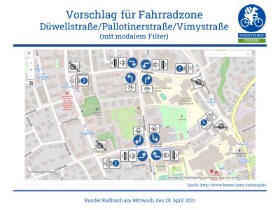 Radentscheid schlägt Fahrradzone für Schulviertel um Vimy-Areal vor