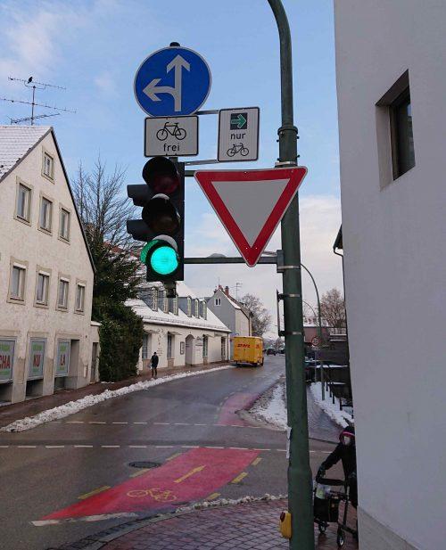 Grünpfeil Kammergasse Ecke Ziegelgasse