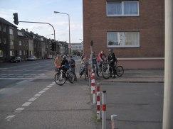 der Überweg über die Euskirchener Straße wurde in Augenschein genommen