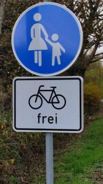 Radfahrer-frei-Detail