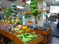 The produce section at El Palacio de los Jugos