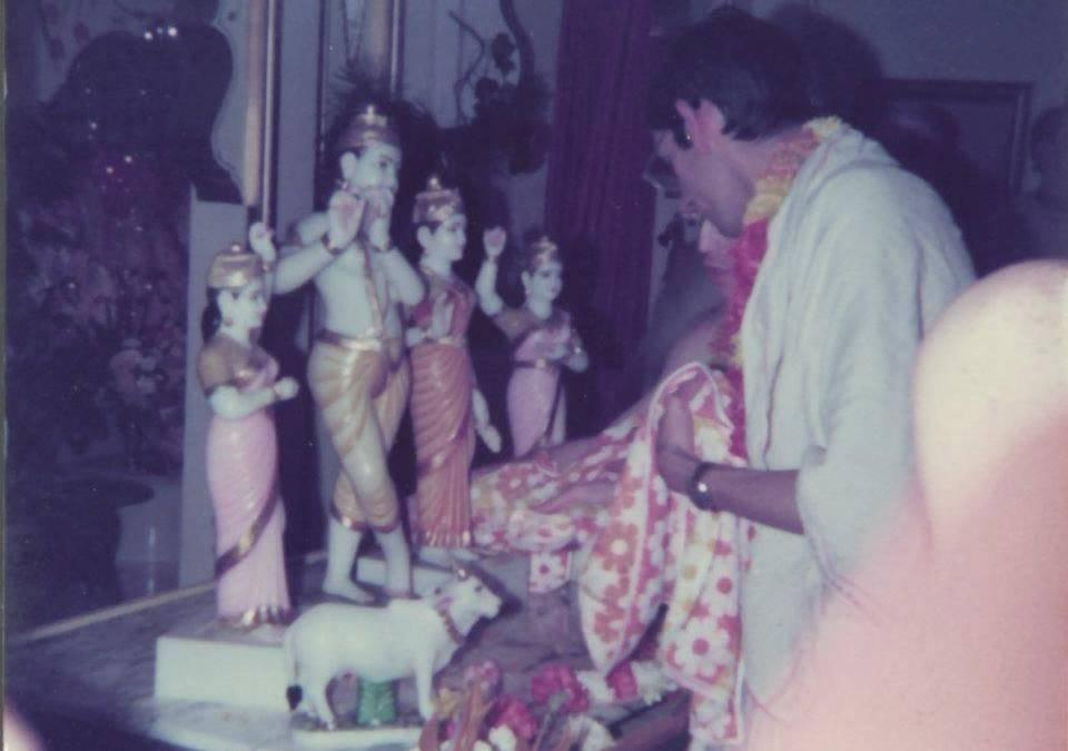 Sri Sri Radha Gopinatha's installation