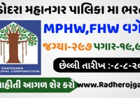 VMC Recruitment For MPHW,FHW, Medical Officer Other 297 Post@vmc.gov.in
