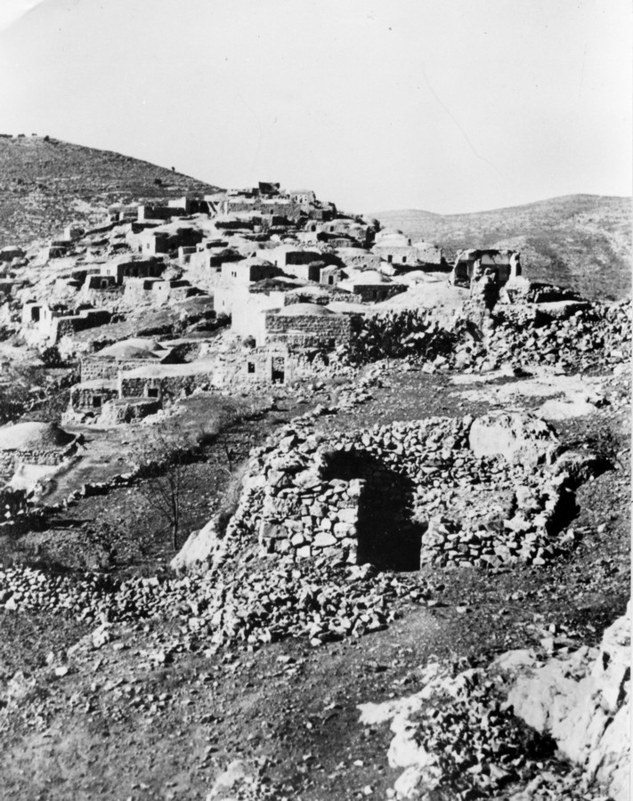 Image of Ras Abu Ammar, taken in 1948, when the village was depopulated. From the archives of the Palmach