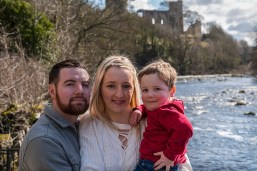 Mary, Michael, and son Elijah Outdoor Engagement Shoot at Barnard Castle