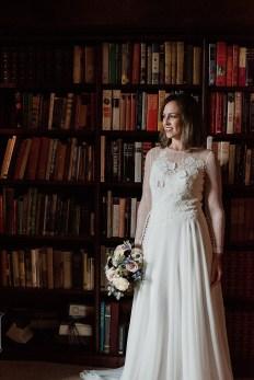 Bride in Askham Hall Library
