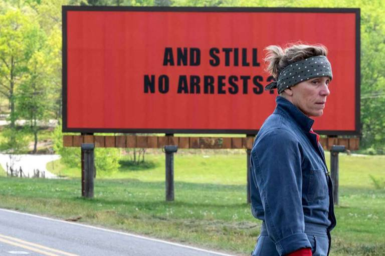 NOW SHOWING: THREE BILLBOARDSOUTSIDE EBBING, MISSOURI screens at Picturehouse Central (26 DEC).