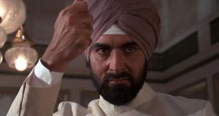 Turbans Seen On Screen: Kabir Devi as Gobinda in OCTOPUSSY.